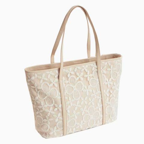 Tote bag cover with lace material