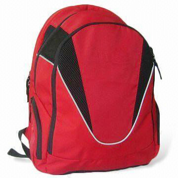Nylon or polyester backpack laptop bag