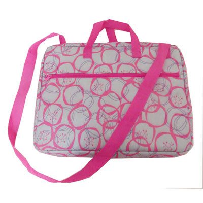 printed polyester 14 inches laptop bag