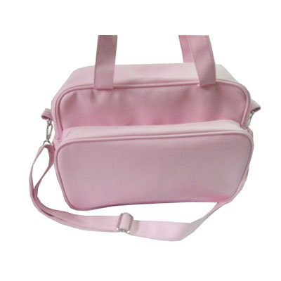 Big PVC leather mummy diaper bag with adjustable shoulder strap
