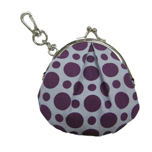 Dotted cotton coin purse