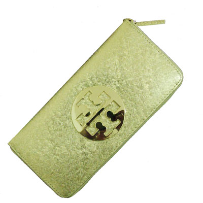 Women's Wallet in Shiny Golden Lizard Leather