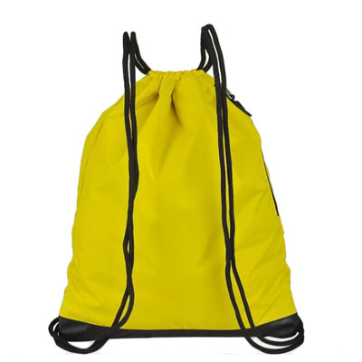 Drawstring polyester travel backpack