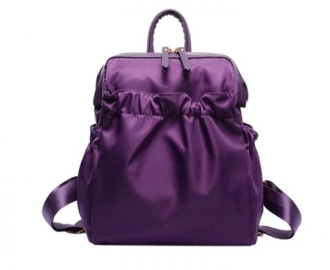 Lady plicated nylon backpack