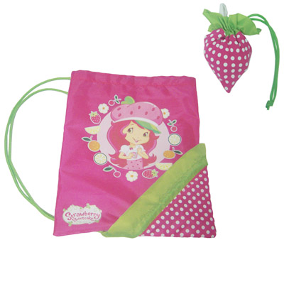 strawberry drawstring backpack